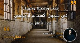 يوميات كورونية. بقلم:محمود طعمة || موقع مقال