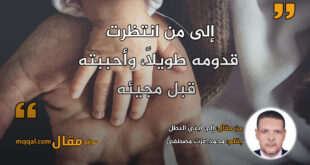 إلى ابني البطل. بقلم: محمد عزت مصطفى || موقع مقال