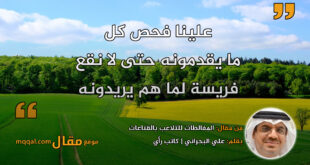 المغالطات للتلاعب بالقناعات. بقلم: علي البحراني || موقع مقال