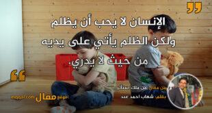 من ملك استأثر. بقلم: شهاب احمد عبد || موقع مقال