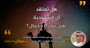 العمق الحضاري في المملكة العربية السعودية || بقلم: طارق بن عبد الله الغشيان || موقع مقال