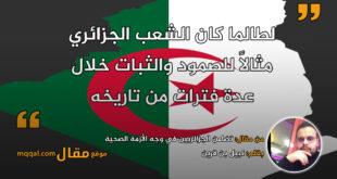 تضامن الجزائريين في وجه الأزمة الصحية || بقلم: نبيل بن قرين || موقع مقال